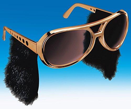 Gold Elvis Glasses (Loftus International Elvis Glasses with Sideburns)