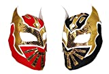sin cara mask kids - 2 pack SIN CARA Youth Lucha Libre Wrestling Mask - KIDS Costume Wear - Party Pack Red/Black