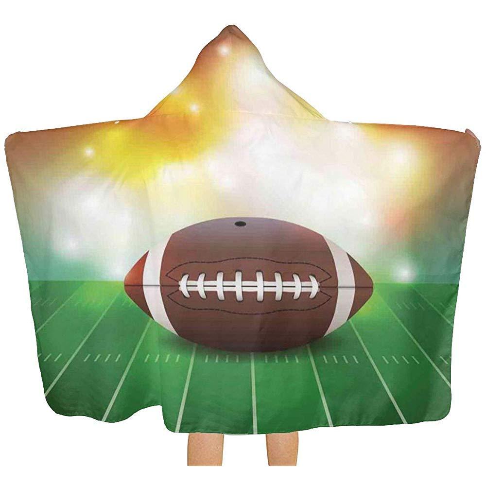 Wen-shop Balón de fútbol Americano sobre Hierba Deportes con ...