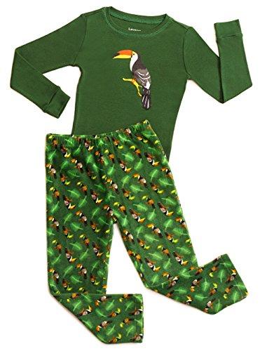 Leveret Fleece & Cotton 2 Piece Pajama Bird 14 (14 Bird)