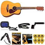 Yamaha JR1 3/4 Size Acoustic Guitar Bundle with Bag,Tuner,Strings,Strap,Winder,Picks and Beginner DVD