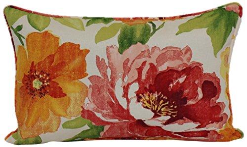 Brentwood Originals 35618 Indoor/Outdoor Toss Pillow, 13 By 20-Inch, Muree Primrose (Originals Brentwood Outdoor Cushions)