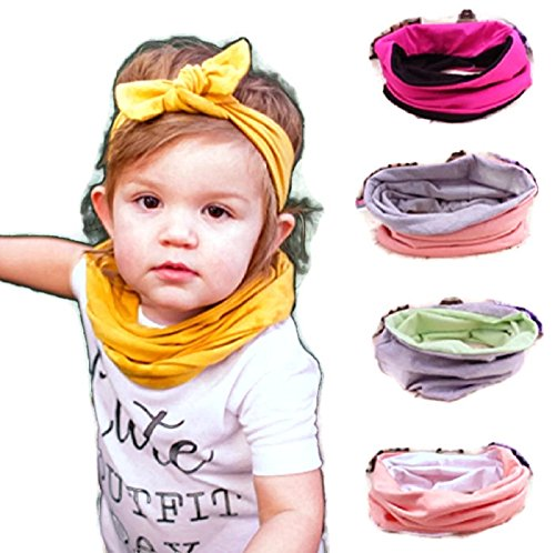 Hot Baby Scarf Bib Cotton Bandana Bibs Burp Cloths Children's Ring Collar (One Size, Red) (Thing 1 And Thing 2 Costume Ideas)