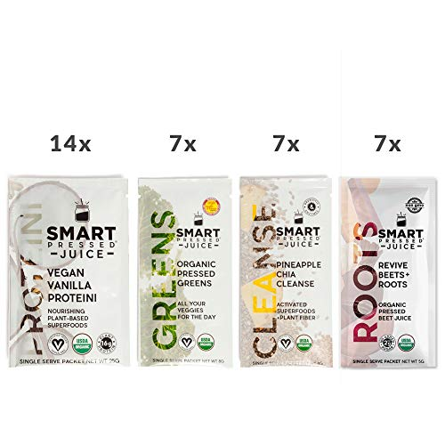 7-Day Organic Juice Cleanse Weight Loss   Smart Pressed Juice   Detox Shake Fat Burner Program   Cold-Pressed Green Juice   Beets Chia Fiber Protein Celery by SMART PRESSED (Image #1)