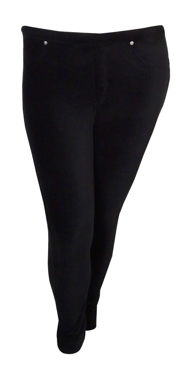 Style & Co. Women's Soft Full Length Legging Pants (PS, Deep Black)
