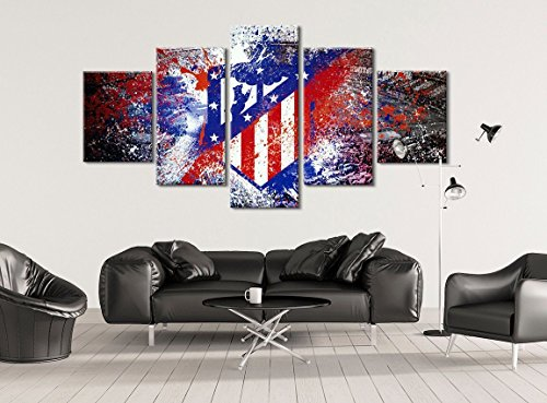 Atlético Madrid Soccer Canvas - Stretched and Framed Artwork - Hand Made In The US by Canvas Kings