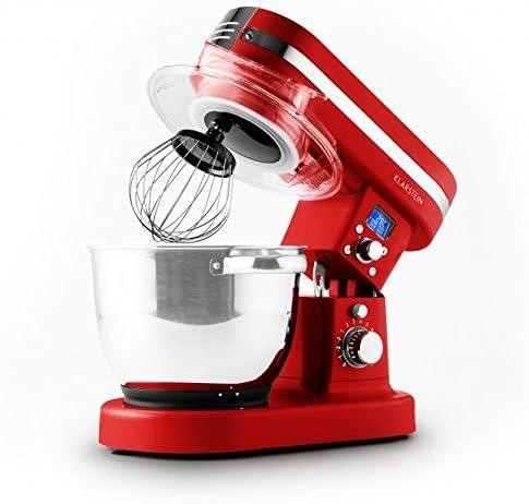 Klarstein 10027890 1200W 5.5L Rojo - Robot de cocina (5,5 L, Rojo, 2 L, 220-240, Acero inoxidable, 1200 W): Amazon.es: Hogar
