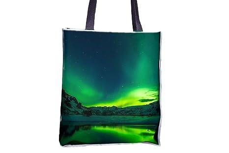 Islandia, Aurora boreal Allover impresa bolsos, Popular ...