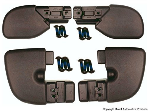 - DirectAuto Set of 4 Bumper End Caps Front & Rear Left & Right Fits 1997-2006 Jeep Wrangler