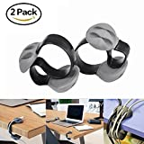 Wire Holder Clips,Lavince 2PCS Desk Cable Clip Cord Management System, Triple Slots Desktop Cable Organizer Line Fixer Wire Holder for Phone Charger/ TV/ Computer/ Home Office(Gray)
