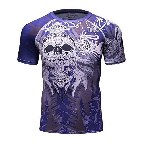 Cody Lundin Tight Fitness Sport Respirant à Manches Courtes Hommes T-Shirt Homme Shirt