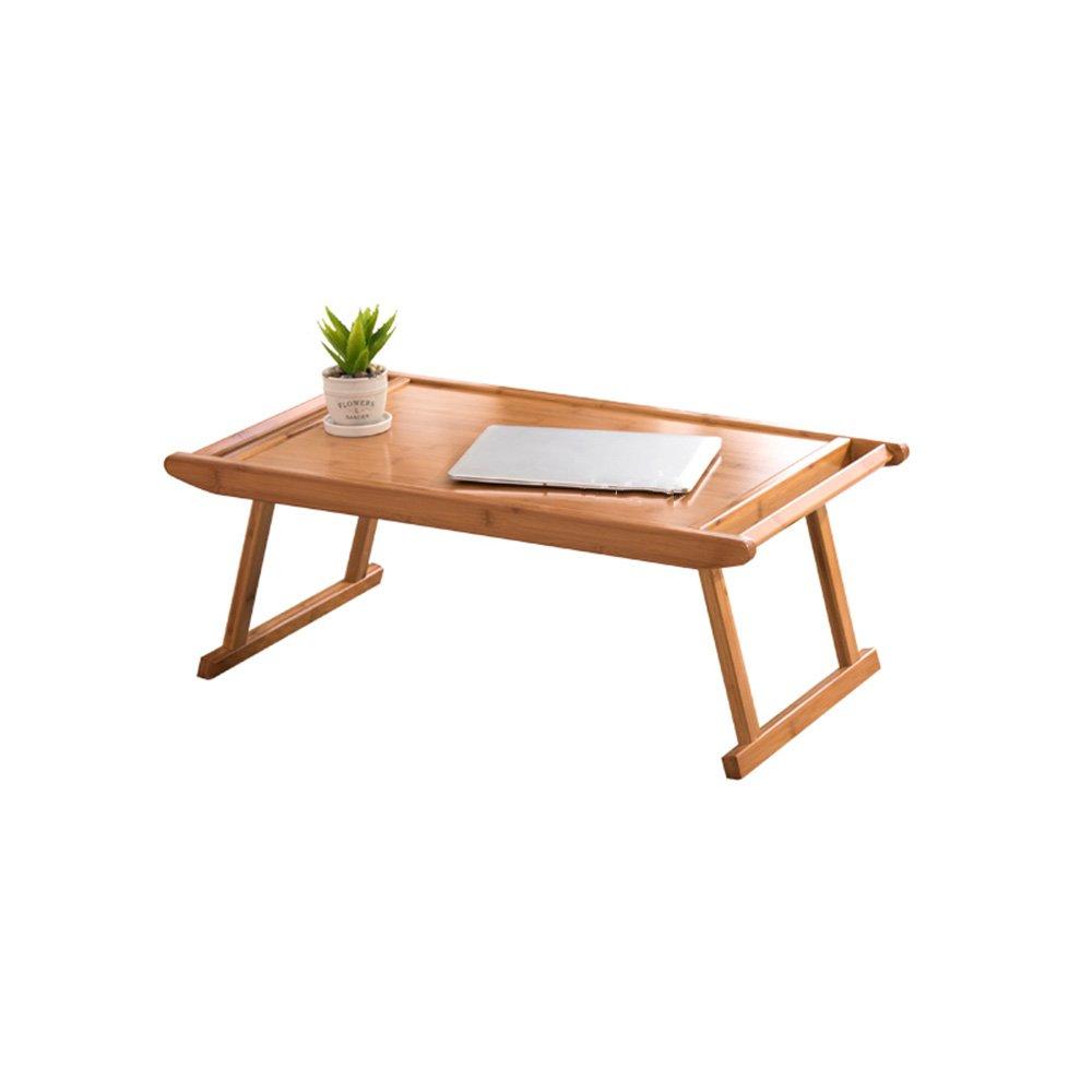 FEIFEI 竹のコーヒーテーブルシンプルなティーテーブルレイジーテーブル折り畳みテーブルベッド (サイズ さいず : 76 * 43 * 29cm) B07F9W21L176*43*29cm