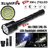 Handheld Flashlights,Lookatool XLightFire 16x XML T6 5 Mode 18650 Super Bright LED Flashlight