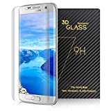 (US) Amoner Samsung Galaxy S7 Edge Screen Protector, HD Clear Anti-Bubble Full Coverage Tempered Glass Screen Protector for Samsung Galaxy S7 Edge -Clear