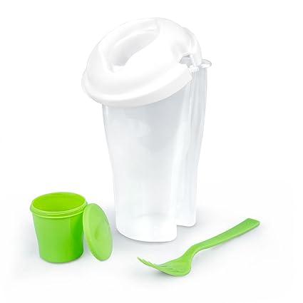 Tupperware para ensaladas Salad tu go Con recipiente para la salsa Con tenedor