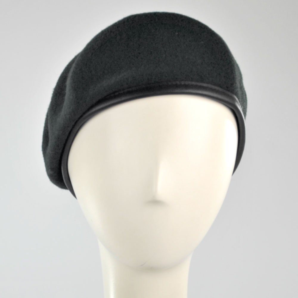 02bb3e8d Amazon.com: Village Hat Shop Military Beret (6 7/8, Black): Military  Apparel Accessories: Clothing