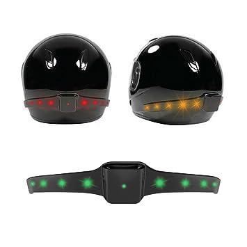 Evary Casco de moto inalámbrico LED de luz de seguridad Luces de freno Indicadores de señal
