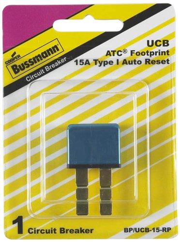 Atc Circuit Breaker - Bussmann (BP/UCB-15-RP) 15 Amp Type-I Universal Circuit Breaker