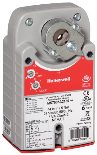 Honeywell - MS4103A1130 - 100-240VAC On/Off SPST Electric Actuator, -22 to 149 F, 27 in.-lb., 45 sec. Nominal @ 60 Hz, 25 sec ()