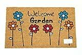 Home Garden Hardware 37197 Welcome Garden Printed Coir Doormat,Natural,Small