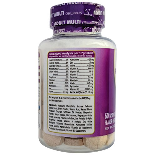 Picture of Adult Dog Multivitamin by Primo Pup Vet Health | Supports Physical & Mental Wellbeing | Vet Formulated | Easy to Digest | No Artificial Colors, Flavors, or Grains | Made in the USA | 60 Chewables