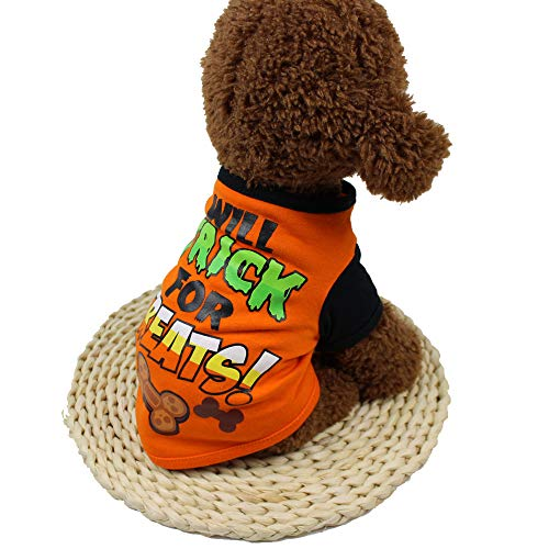 Cool Halloween Pet T Shirts Cute Clothing for Small Puppy Dog Shirt Costume by Laimeng -