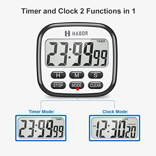 home, kitchen, kitchen, dining, kitchen utensils, gadgets, thermometers, timers,  timers 10 picture Habor Kitchen Timer, 24-Hours Digital Timer [Multifunctional promotion