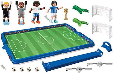 Playmobil-2018 FIFA World Cup Russia Campo de Fútbol Maletín, única (9298): Amazon.es: Juguetes y juegos