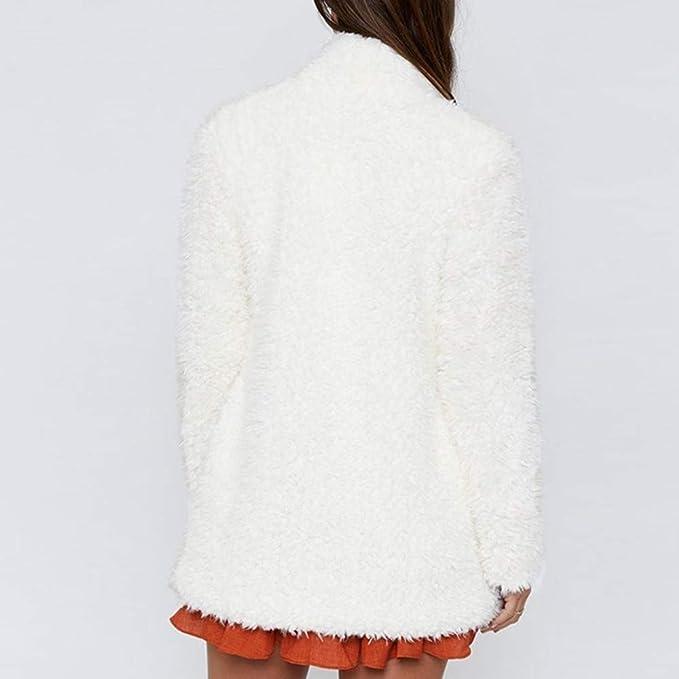 ❤ Cardigan de Lana para Mujer, Color sólido de Moda Abrigo de Manga Larga Chaqueta de Punto y Traje de Lana Abrigo cálido de Invierno Absolute: ...