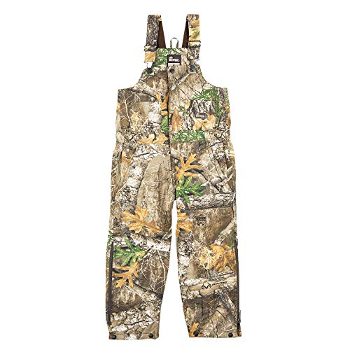 Berne Youth Bucksnort Insulated Bib Overall, Large Regular, Realtree Edge