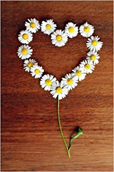 Open Heart Design with Daisies Flower Journal: 150 Page Lined Notebook/Diary