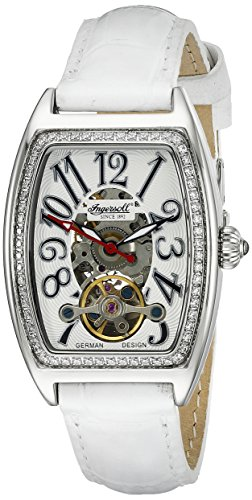 Ingersoll Women's IN3705WH Black Jade Analog Display Automatic Self Wind White Watch
