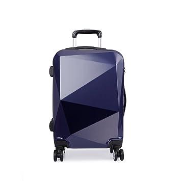 Kono - Maleta rígida con 4 ruedas y trolley, 4 colores azul azul