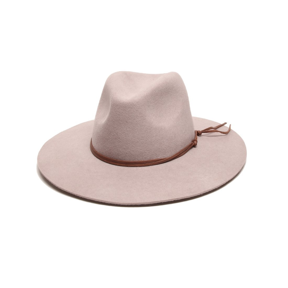 'ale by alessandra Women's Nirvana Felt Fedora With Leather Trim, Stone, One Size by ale by Alessandra