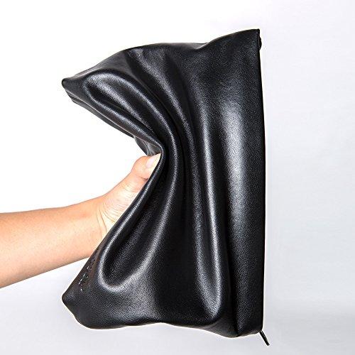 Genuine Leather Envelope Clutch Bag Business Portfolio Briefcase for Men Black by Sturdybags (Image #5)