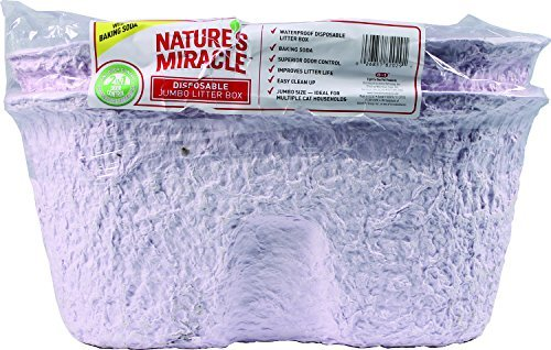(Nature's Miracle Disposable Litter Box, Jumbo, by Nature's Miracle)