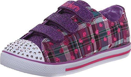 Skechers Little Kid (4-8 Years) Twinkle Toes: Chit Chat-Prolifics Purple/Multi Light-Up Sneaker - 2 Little Kid M (Skechers Girl Shoes Light Up)