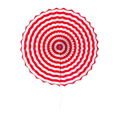 Sorive® Patriotic Round Folding Hanging Paper Fans Red White Blue American Flag Design for Porch Tree Home Decoration, Party Supplies, (6 Pack) by Sorive® by Sorive (Image #1)