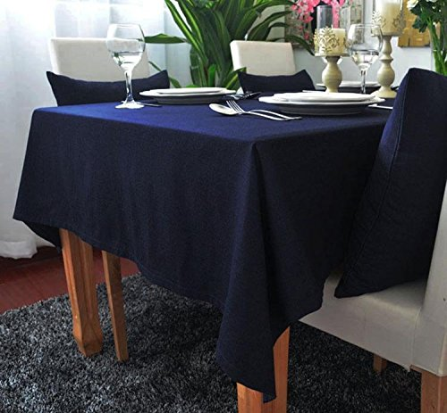 kingdeson-cotton-linen-rectangle-polyester-solid-color-modern-tablecloth-multi-sized