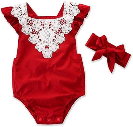 Wang-RX Navidad recién Nacido bebé niñas algodón de Encaje ...