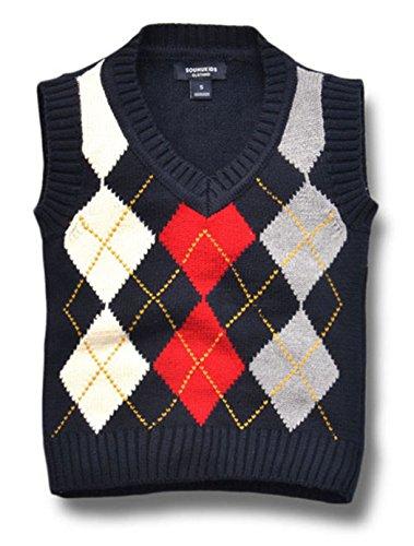 Cotton Argyle Sweater - 5