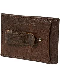 Men's Top Grain Leather Minimalist Money Clip Front Pocket Wallet