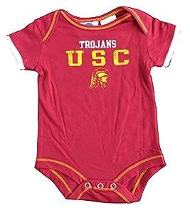 USC Trojans Onesie Size 12 Month NCAA Authentic Team Logo Bodysuit - Team Colors