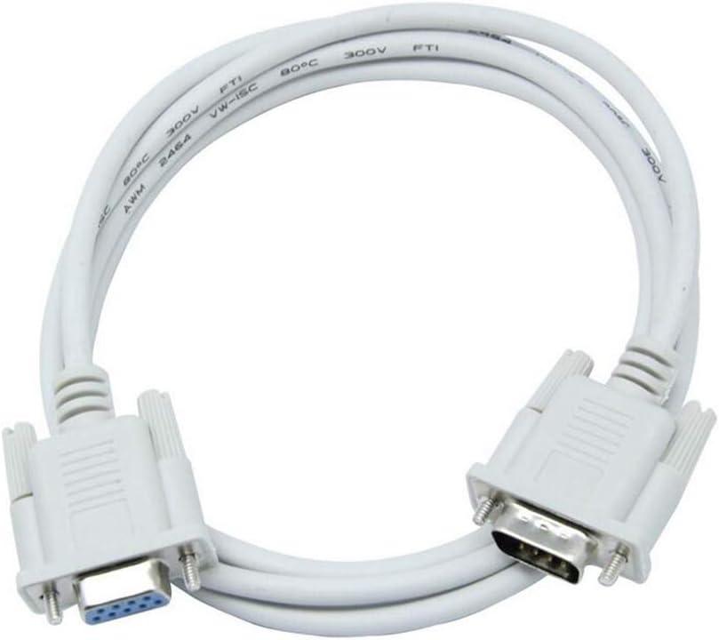 Cable Serie Macho de 9 Pines Hembra Null Modem extensión del Cable de extensión línea de Datos multifunción Datos comunicación Cable de conexión 1 Unidad 3 Metros: Amazon.es: Electrónica