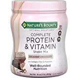 Protein Powder with Vitamin C by Nature's Bounty Optimal Solutions, Contains Vitamin C for Immune Health, Decadent Chocolate
