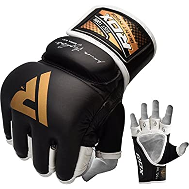 RDX-MMA-Gloves-Grappling-Martial-Arts-Leather-Genuine-Cowhide-Punching-Bag-Mitts-Sparring-Cage-Fighting-UFC-Combat-Training