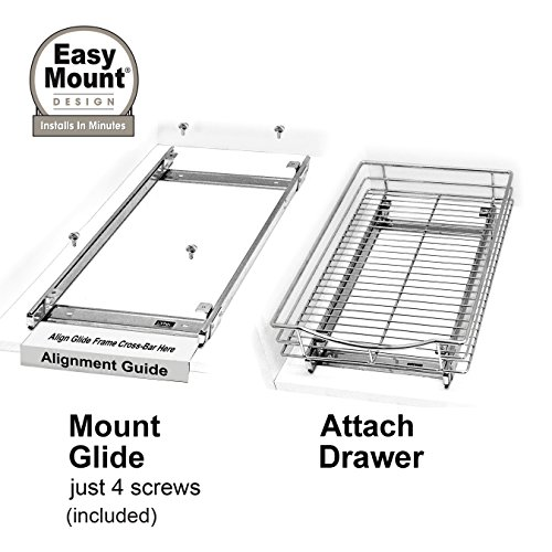 Lynk Professional Slide Out Cabinet Organizer - Pull Out Under Cabinet Sliding Shelf by Lynk (Image #4)