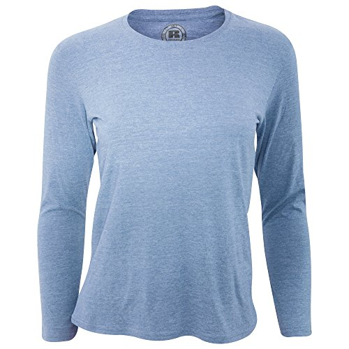 - Russell Older Girls Long Sleeve HD T-Shirt (13-14 Years) (Blue Marl)