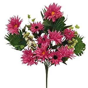 "20"" Gerbera Daisy Bush Silk Wedding Flowers Bouquet Decor 46"