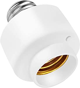 1PC Smart WiFi E26/E27 Light Socket, Intelligent Light Fixture Home Remote Control Lamp Bulb Socket with APP Remote Control Timer Only Support 2.4GHz Network,40W Max